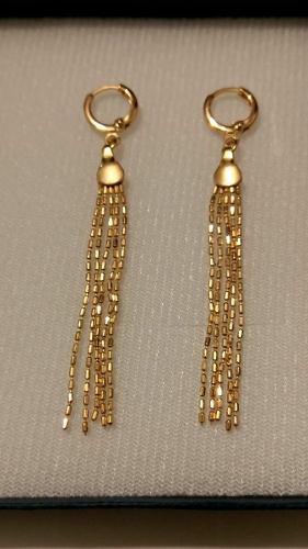 c6f4b1fc3d8b Aretes de oro largos 6 cm con estuche y envio gratis