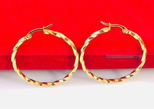 31fc302074d7 Arracadas oro laminado 18k 3.8 cms diametro envio gratis