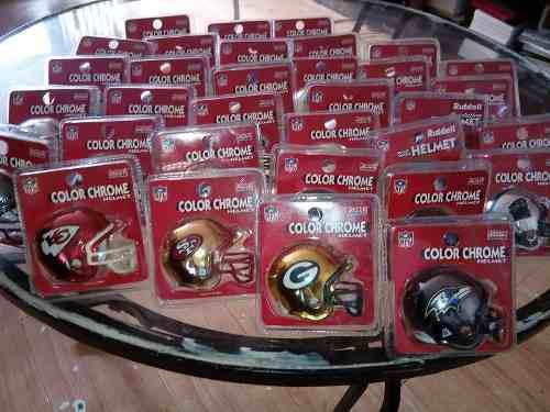 3bc9fcd152196 Colección nfl cascos cromados 32 completa riddell