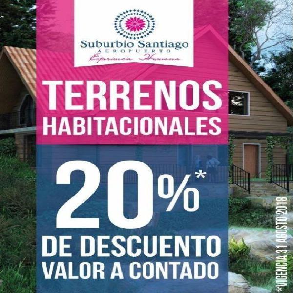 Terrenos habitacionales y comerciales en venta desde $2000