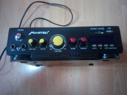 Amplificador para perifoneo, usb, sd card, radio fm karaoke.