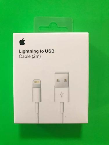Cable 2m original 100% iphone ipad lightning apple 2 metros