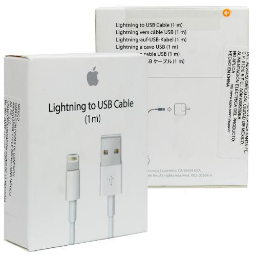 Cable datos apple lightning usb original nuevo sellado