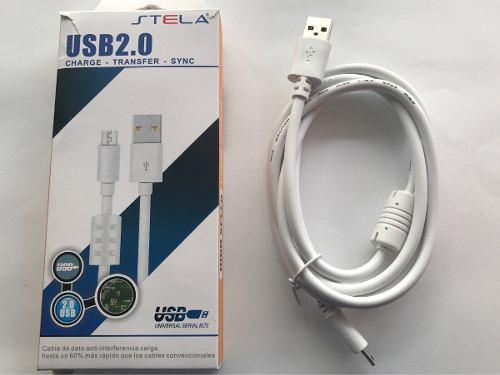 Cable datos carga rápida android rudo v8