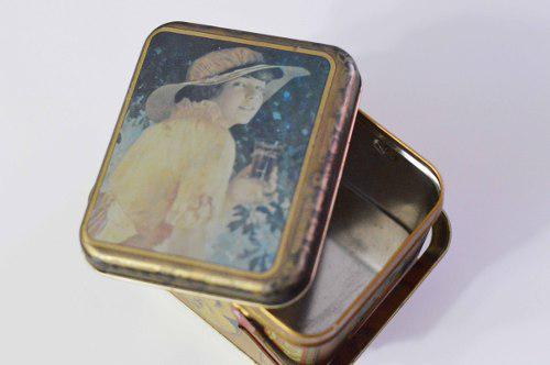 Caja lata lamina vintage coca cola retro antiguedad clasica