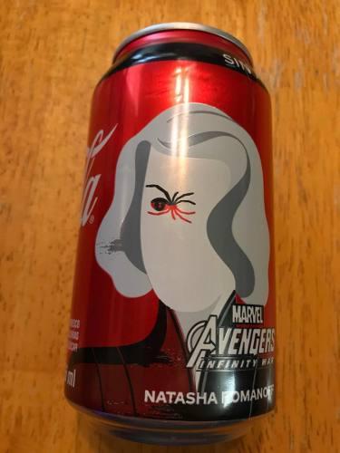 Coca cola 355 ml avengers infinity war black widow nueva