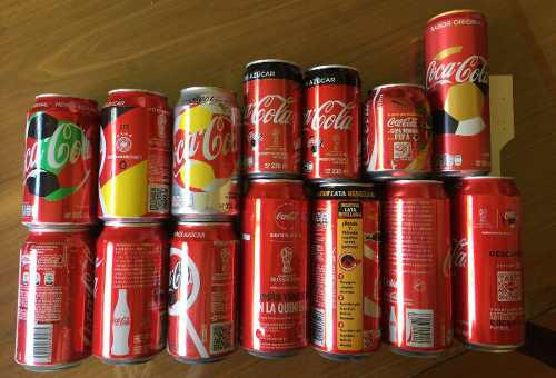 Coleccion 14 latas coca cola futbol fifa world cup ltd