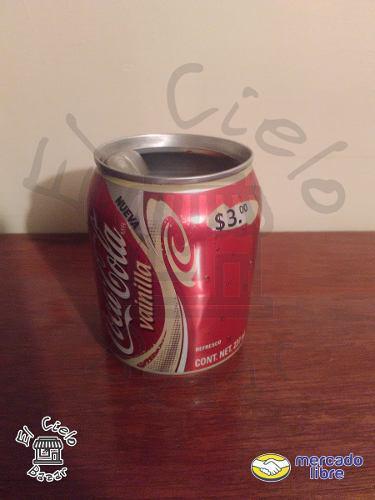 Lata coca cola vainilla abierta