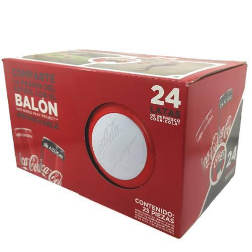 Lote 6 balón mundialista imponchable + coca cola 24 pack