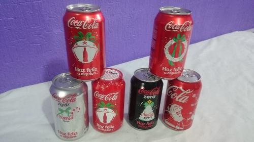 Lote 6 latas coca cola edicion navidad