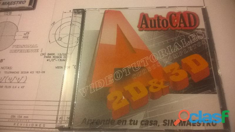 Autocad 2d y 3d videotutoriales, cursos completos