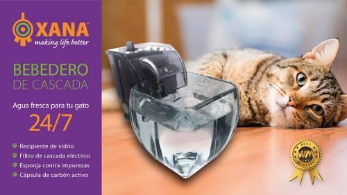 Bebedero de cascada xana. agua fresca para tu gato 24/7