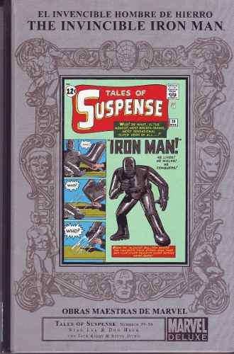 Comic marvel deluxe invincible iron man obras maestras