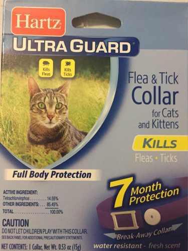 Hartz ultra guard collar anti pulgas garrapatas gatos gatito