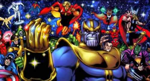 Saga completa de infinity de marvel comic thanos