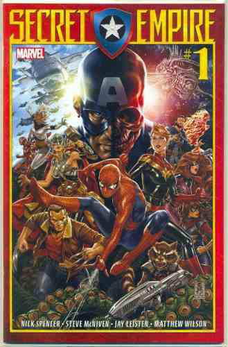 Secret empire 1 marvel comics mark brooks capita america