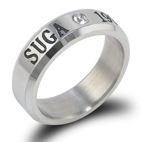 27c18400b242f Bts anillo acero inoxidable titanio suga kpop coreano bt21