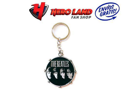 Llavero De Metal The Beatles Pandero Tambor Bettles Beattles