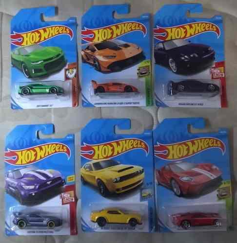 Lote 6 carritos deportivos hotwheels coleccionables (parte3)