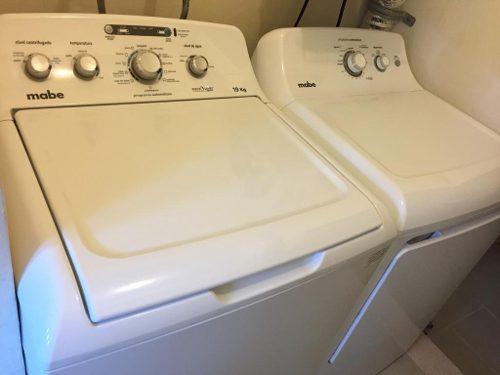 Vendo lavadora aquasaver y secadora mabe de 19 kg semi nueva