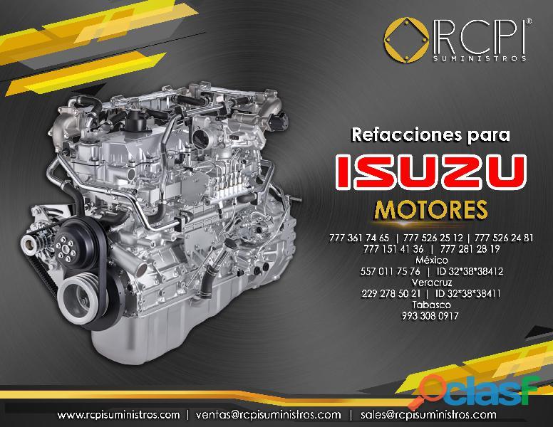 Refacciones para motores industriales isuzu