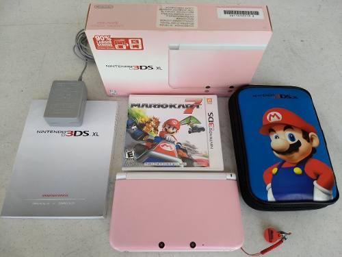 Nintendo 3ds xl incluye estuche, juego mario kart7 y sd 8gb