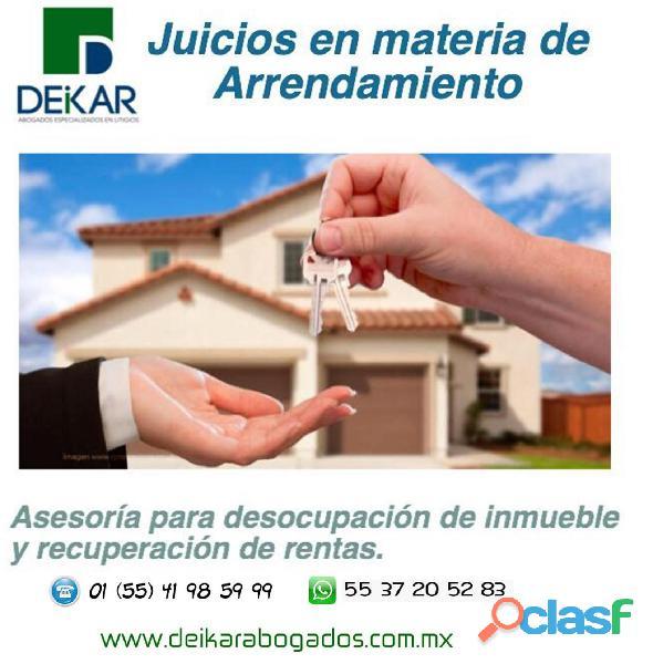 Juicios de arrendamiento inmobiliario o desahucio cdmx y edomex whatsapp 5537205283