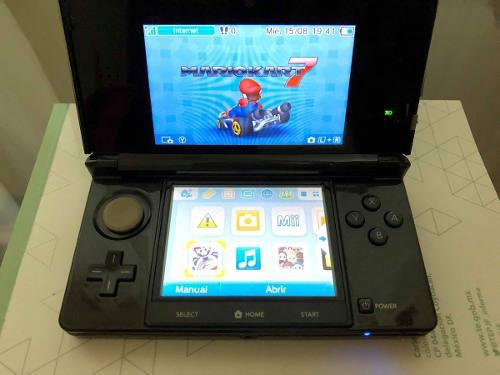 Nintendo 3d negro 4 juegos.