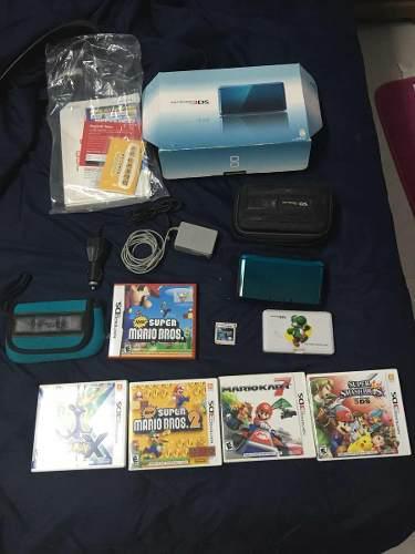 Nintendo 3ds equipado (juegos, accesorios, caja)