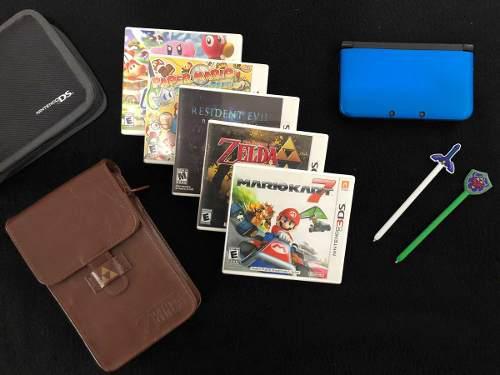 Nintendo 3ds xl con juegos y accesorios