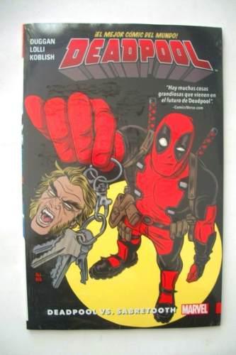 Marvel comics deadpool volúmen 3 vs sabretooth