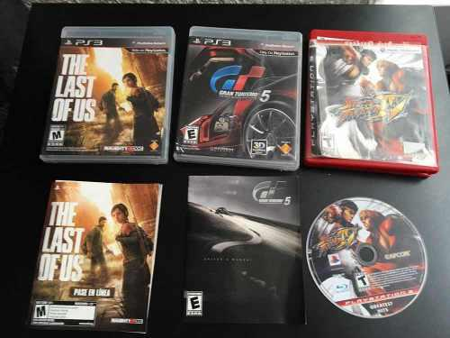 3 Juegos Originales Play 3 Street Fighter 4 Gt 5 Last Of Us
