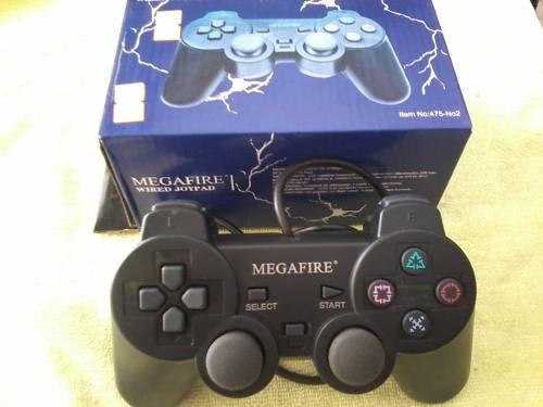 Control ps3 con cable megafire color negro