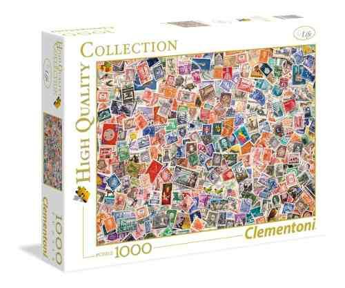 Estampillas postales filatelia rompecabezas 1k clementoni
