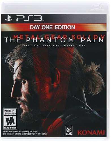 Metal gear solid v the phantom pain day 1 ps3 nuevo envio in