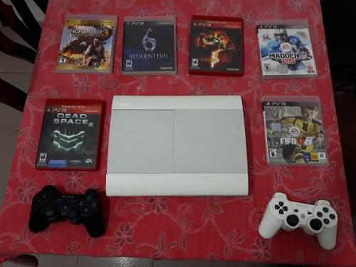 Ps3 250 gb super slim blanco