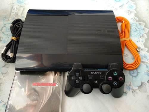 Ps3 super slim de 250gb con control y juego metal gear 4