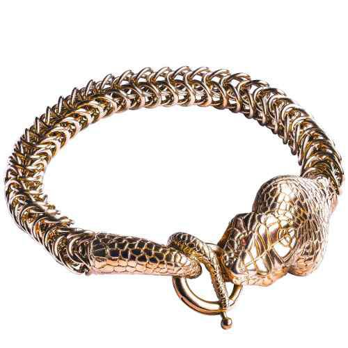 Bomberg cobra bracelet pvd dorado grande swarovski diego vez