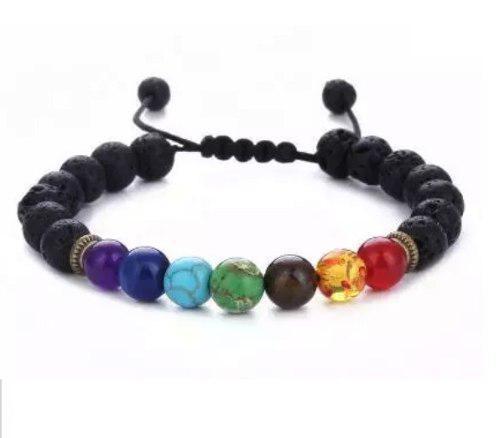 e23c581c89a4 Mayoreo pulseras chakras ajustables energia yoga hechas mano