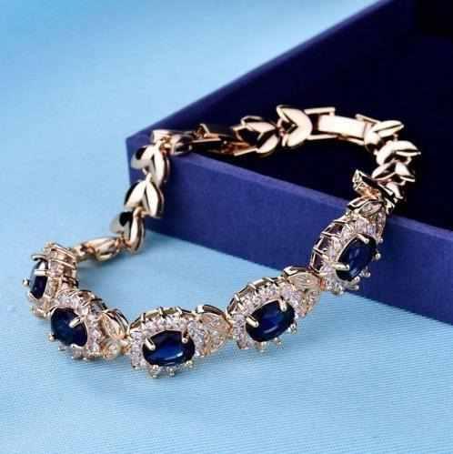 0e306173178f Pulsera cristal swarovski azul 【 REBAJAS Julio 】   Clasf