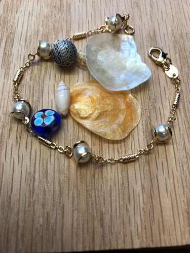 abff1bbf4547 Pulsera perla joyeria enchapado 14 k brazileño