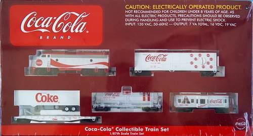 Set de colección tren athearn coca cola escala ho