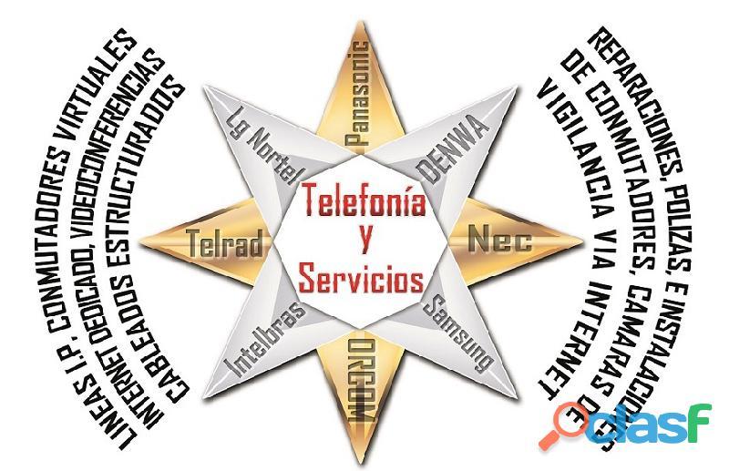 Venta, mantenimiento, reparación de conmutadores, cctv y más