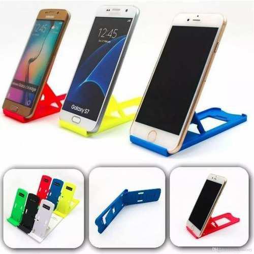 Soporte base slim de posiciones para celular colores