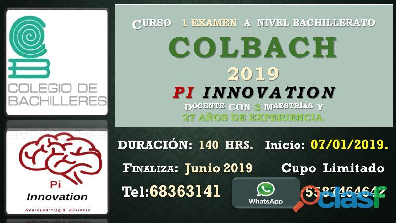 Curso de certificación /colbach: 1 examen prepa intensiva