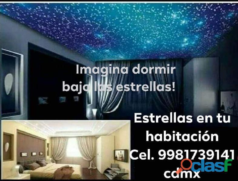 Estrellas en el techo de tu habitación