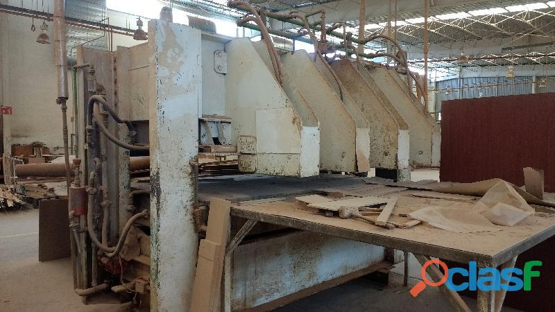 Prensa para tableros y listonados de madera macizos friz