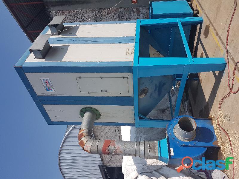 Silo colector extractor de polvo y aserrín ciclón 25 HP