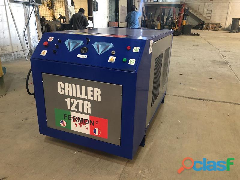 Chiller enfriador de agua de 12 toneladas marca fermon