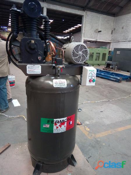 Compresor marca fermon de 5 hp de piston tanque de 300 vertical